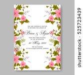 elegance wedding invitation... | Shutterstock .eps vector #525723439