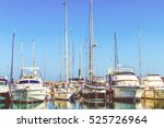 Sea Bay With Yachts.  Yachts A...