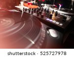 vintage turntable dj vinyl... | Shutterstock . vector #525727978