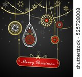 golden christmas decoration... | Shutterstock .eps vector #525728008