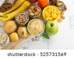 assortment of products rich of... | Shutterstock . vector #525731569
