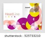 transparent circle composition... | Shutterstock . vector #525733210