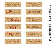 set of textured kraft paper... | Shutterstock .eps vector #525735178