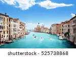 grand canal and basilica santa... | Shutterstock . vector #525738868