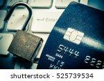 unlocked security lock on...   Shutterstock . vector #525739534