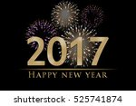 new year's eve 3d illustration  ... | Shutterstock . vector #525741874