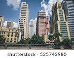 sao paulo downtown buildings... | Shutterstock . vector #525743980