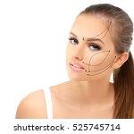 thread lift. | Shutterstock . vector #525745714