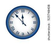 blue realistic vintage clock... | Shutterstock .eps vector #525748408