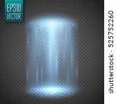 ufo light beam isolated on...   Shutterstock .eps vector #525752260