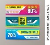 set of promotion sale discount... | Shutterstock .eps vector #525757678