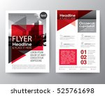 Abstract red geometric background for Poster Brochure Flyer design Layout vector template | Shutterstock vector #525761698