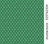 christmas trees pattern green | Shutterstock .eps vector #525762334