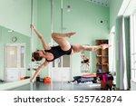 strip plastic pole  dance floor   Shutterstock . vector #525762874
