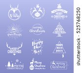 set of merry christmas and... | Shutterstock .eps vector #525768250