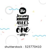 the journey of a thousand miles ... | Shutterstock .eps vector #525770410