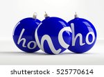 Blue Christmas Balls With The...