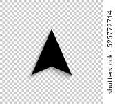 navigation arrow   black vector ... | Shutterstock .eps vector #525772714