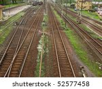 railway tracks and turnouts on... | Shutterstock . vector #52577458