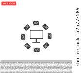 mail computer  vector... | Shutterstock .eps vector #525777589