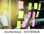 note paper reminder schedule... | Shutterstock . vector #525784828