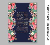 wedding invitation printable... | Shutterstock .eps vector #525786859