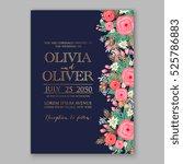 wedding invitation printable... | Shutterstock .eps vector #525786883