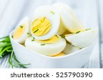 Portion Of Halved Eggs As...