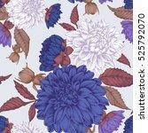 vector floral seamless pattern... | Shutterstock .eps vector #525792070