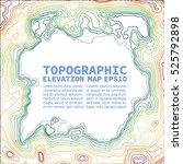 topographic map background... | Shutterstock .eps vector #525792898