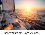 sailing ship yachts in the open ... | Shutterstock . vector #525794260