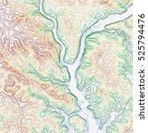 topographic map background... | Shutterstock .eps vector #525794476
