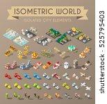 isometric world. set of... | Shutterstock .eps vector #525795403