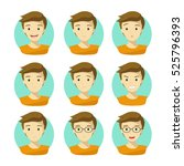 man's face expressions.human... | Shutterstock .eps vector #525796393
