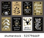 set of merry christmas  happy... | Shutterstock .eps vector #525796669