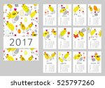 vector calendar for 2017. set... | Shutterstock .eps vector #525797260
