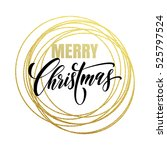 merry christmas gold greeting...
