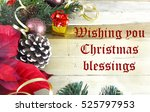 christmas border of evergreen ... | Shutterstock . vector #525797953