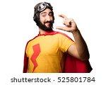 crazy super hero showing gesture | Shutterstock . vector #525801784
