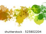 colorful splashed paint... | Shutterstock . vector #525802204