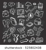 business themed doodle on... | Shutterstock . vector #525802438