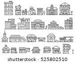set of cute building doodle | Shutterstock . vector #525802510