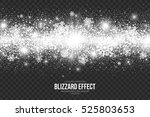 snow blizzard effect on... | Shutterstock .eps vector #525803653