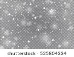 winter with snow in transparent ... | Shutterstock .eps vector #525804334