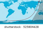 human population increase 3d... | Shutterstock . vector #525804628