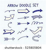 arrow doodle background | Shutterstock . vector #525805804
