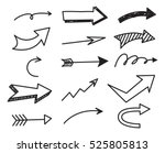 arrow doodle background | Shutterstock . vector #525805813