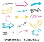 arrow doodle background | Shutterstock . vector #525805819