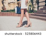 close up of slim legs of woman... | Shutterstock . vector #525806443
