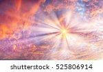 sunset and sunrise spectacular... | Shutterstock . vector #525806914